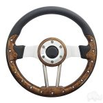 Aviator 12 Woodgrain Grip-Brushed Aluminum Spokes 13""