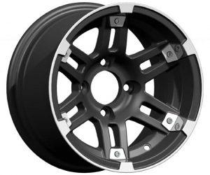 Barracuda Silver & Black Aluminum Rim