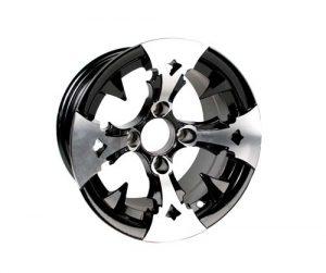 BattleAxe Silver/Black Aluminum Rims