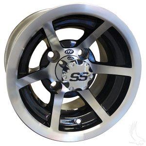 """Evader Silver & Black SS6 10"""" Aluminum Rims"""