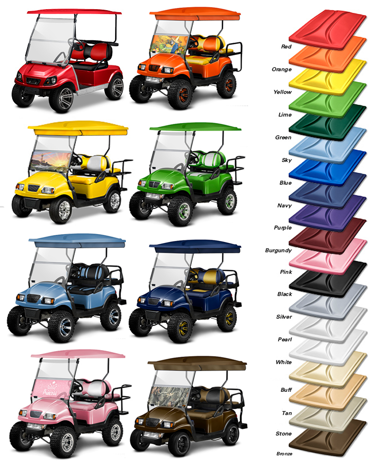 Golf Cart Track Top Roofs