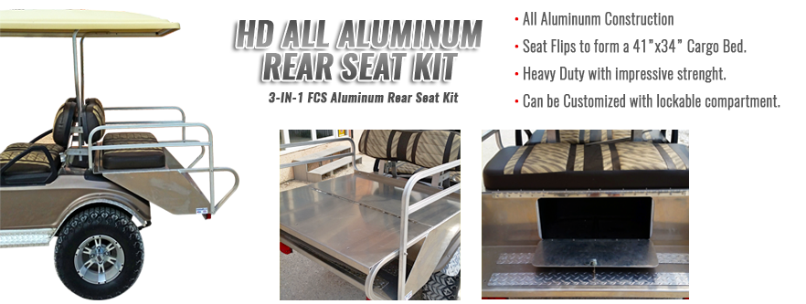 HD All Aluminum Golf Cart Seat