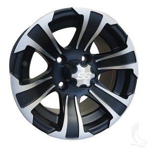 "ITP SS312 Silver & Black 12"", 14"" Aluminum Rims"