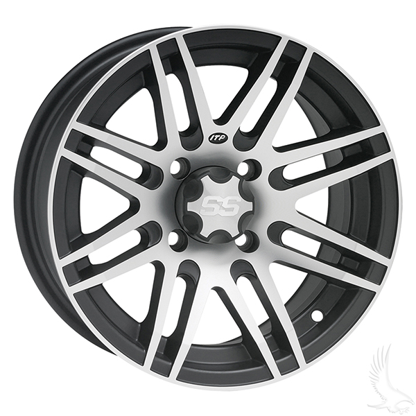 "ITP SS316 Machined black 12"" Aluminum Rims"