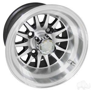 """Medusa/Phoenix Black 10"""" Aluminum Rims"""