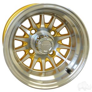 """Medusa/Phoenix Gold 10"""" Aluminum Rims"""