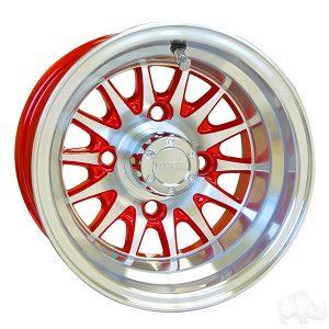 """Medusa/Phoenix Red 10"""" Aluminum Rims"""