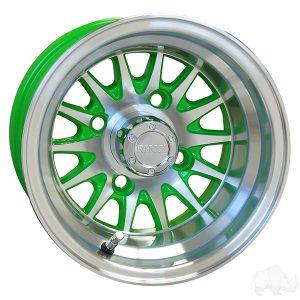 "Medusa/Phoenix Green 10"" Aluminum Rims"