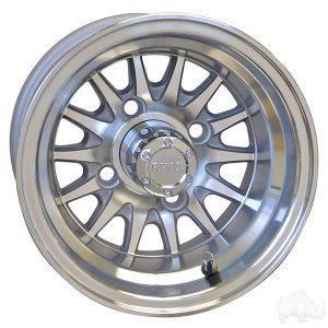 "Medusa/Phoenix Silver 10"" Aluminum Rims"