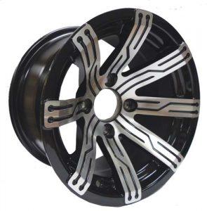 "Omega Silver & Black 12"" Aluminum Rims"