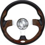 "PURSUIT 12.5"" WOOD STEERING"