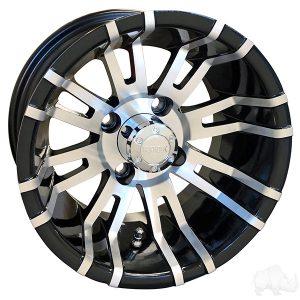 "RHOX RX270 Silver/Black 12"" Aluminum Rims"