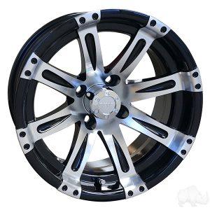 """RHOX Vegas Silver/Black 10"""", 12"""", 14"""" Aluminum Rims"""