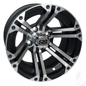 "Specter ITP SS212 Silver/Black 10"", 12"" Aluminum Rims"