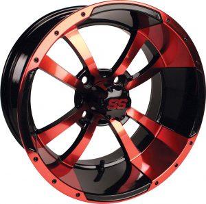 "Storm Trooper Red/Black 14"" Aluminum Rims"