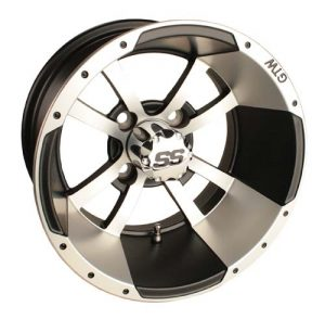 "Storm Trooper Silver/Black 10"", 12"" Aluminum Rims"