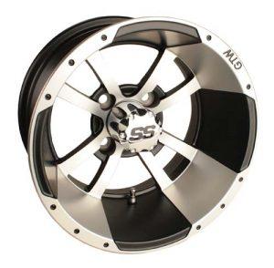 """Storm Trooper Silver/Black 10"""", 12"""" Aluminum Rims"""
