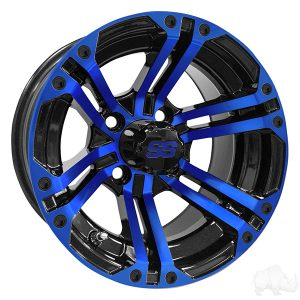 ALUMINUM RIM BLUE & BLACK