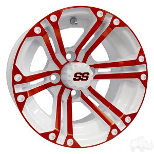 ALUMINUM RIM RED & WHITE