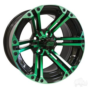 ALUMINUM RIM GREEN & BLACK