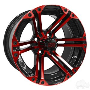 ALUMINUM RIM RED & BLACK