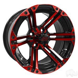 ALUMINUM RIM RED & BLACK