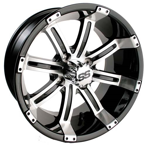 "Tempest SS Silver/Black 10"", 12"", 14"" Aluminum Rims"