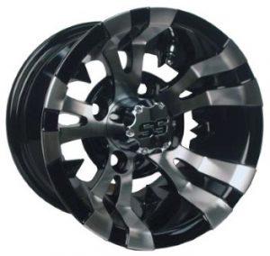 """Vampire Silver/Black 10"""", 12"""" Aluminum Rims"""