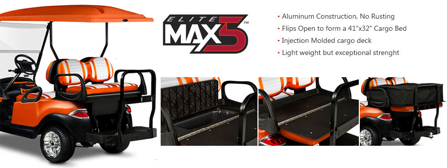 MAX5 Golf Cart Rear Seat Kit