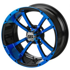 "Storm Trooper Blue/Black SS 12"" Aluminum Rims"