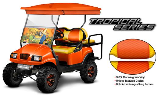 Tropical Series Golf Cart Cushions