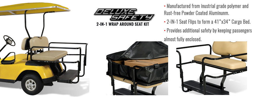 Wraparound Golf Cart Rear Seat Kit