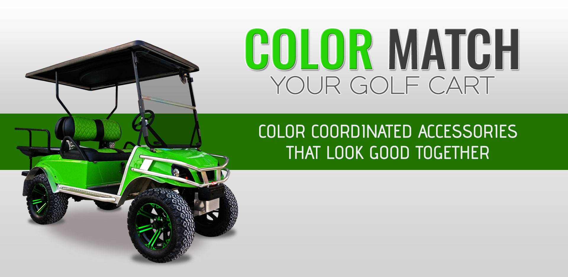 Color Match Your Golf Cart Accessories
